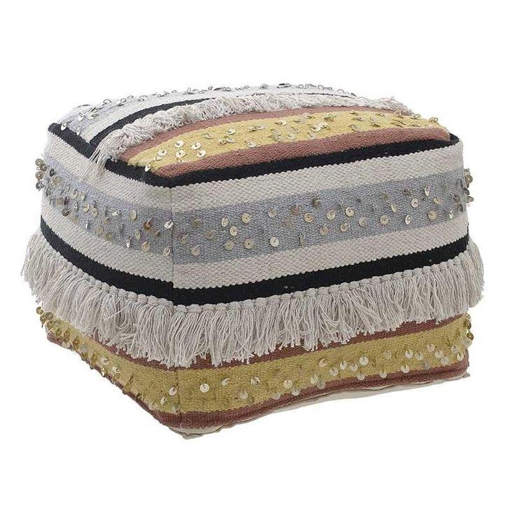 Fabric Pouf - inart