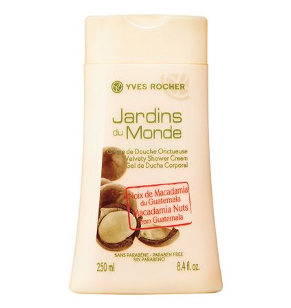 Discover the rich flavor and the enveloping and intense scent of Guatemala Macadamia Nuts. Enriched with Aloe Vera, the Macadamia Nuts from Guatemala Velvety Shower Cream gently cleans your skin. Result: nourished and soft skin! @Yves Rocher USA #springbeauty