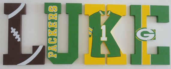 NFL Packers Inspired Wall Letters by SilverSprout