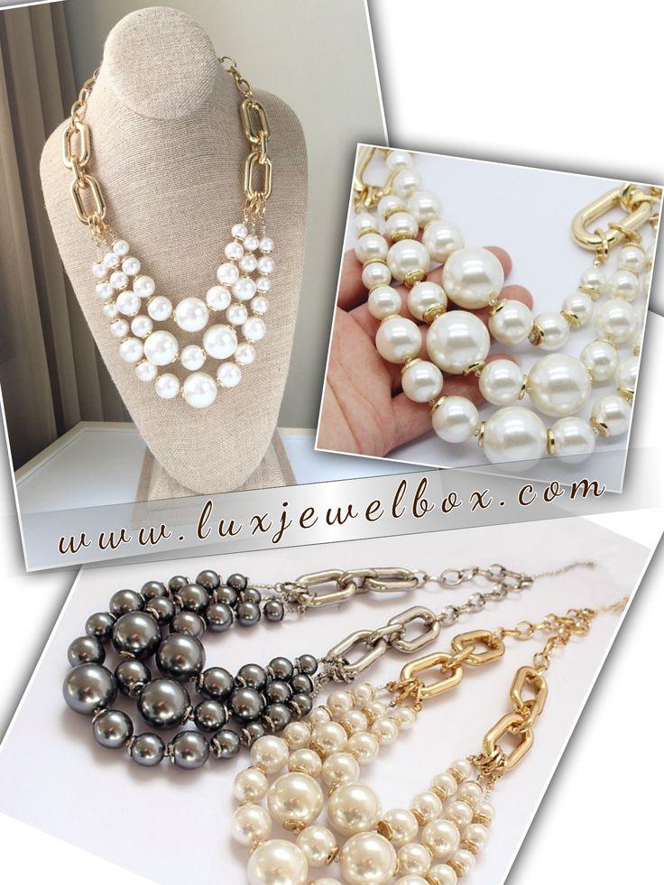 "Meet ""Eva"" - Gorgeous Layered Big Pearl Necklace"