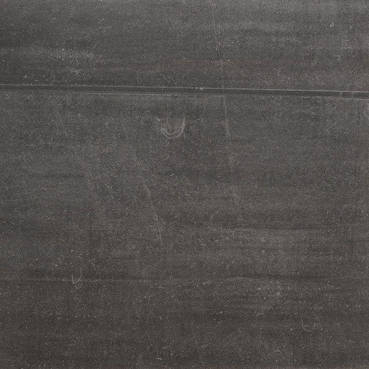 Bricmate Limestone Anthracite 60x60, med härlig kalkstenskänsla. Varierar i nyans och mönster.