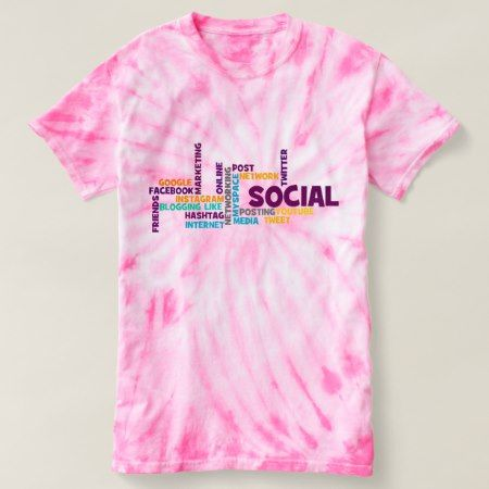 Trendy Social Media Modern Typography Pink Cute T-shirt - tap to personalize and get yours
