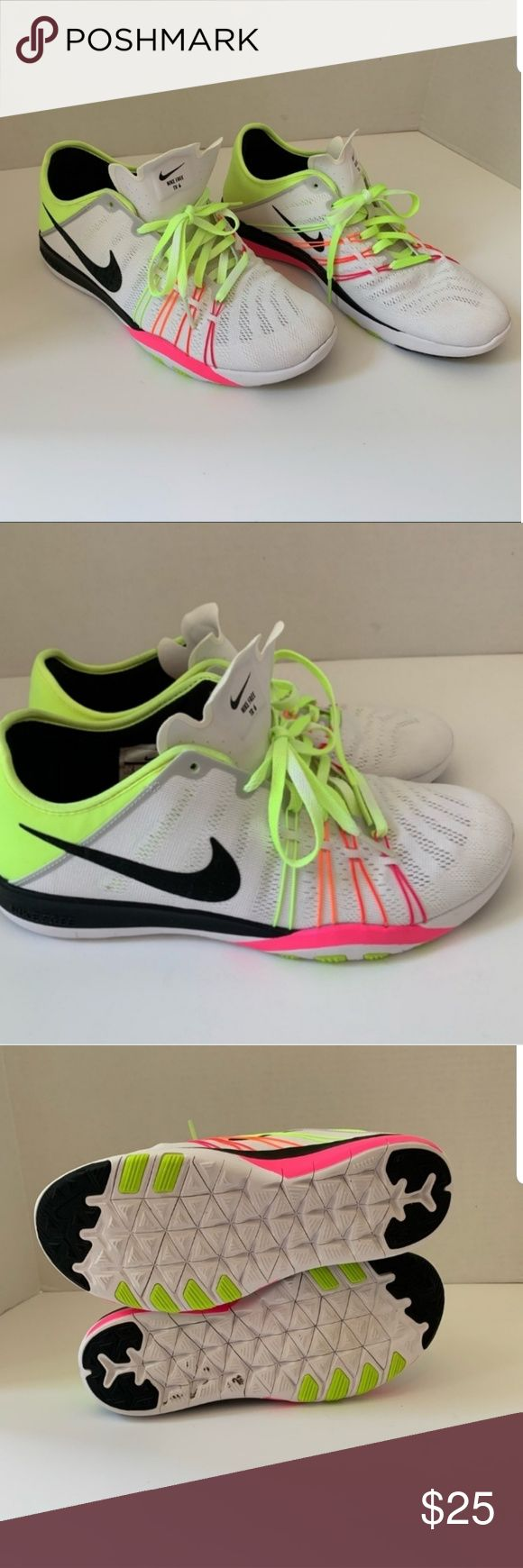 Nike free TR6 shoes White with neon detail. Excellent condition! Only worn a han…