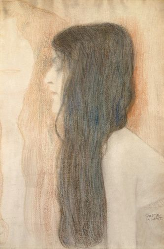 Klimt, Mädchen mit langen Haaren 1899 (Girl with long hair) - ughhh klimt GET OUT OF HERE GOD