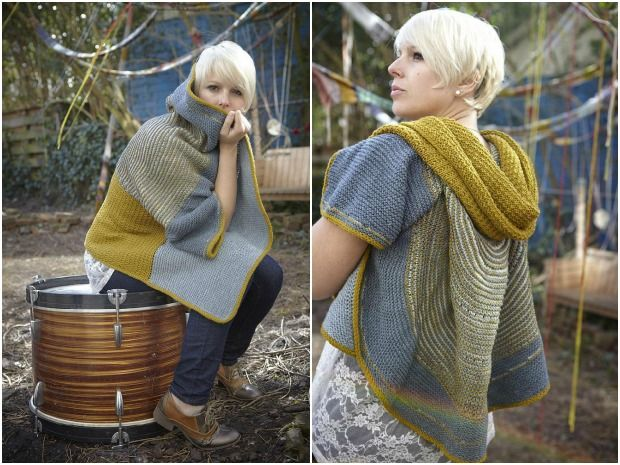 Lost and found poncho kniting pattern by Stephen WEst
