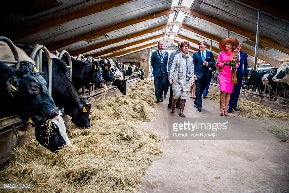 King WillemAlexander of the Netherlands and Queen Maxima of the Netherlands visit guest farm De Appelgaard on February 21 2017 in Gouderak Netherlands