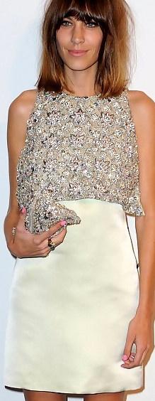 Beaded brocade dress