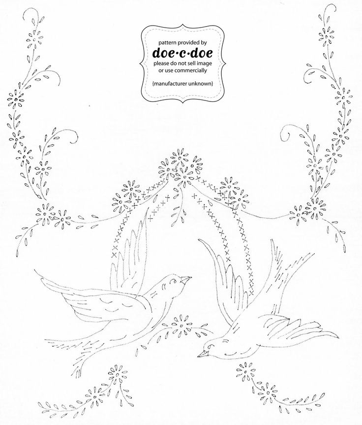 vintage pillowcase embroidery designs free | doe-c-doe: thursday = embroidery