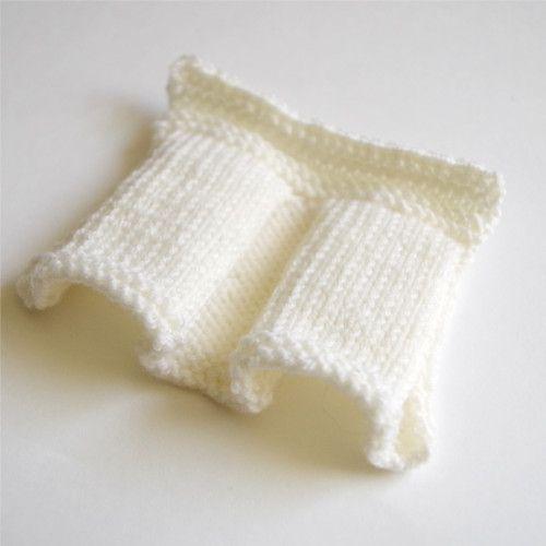 Knitted box pleats tutorial