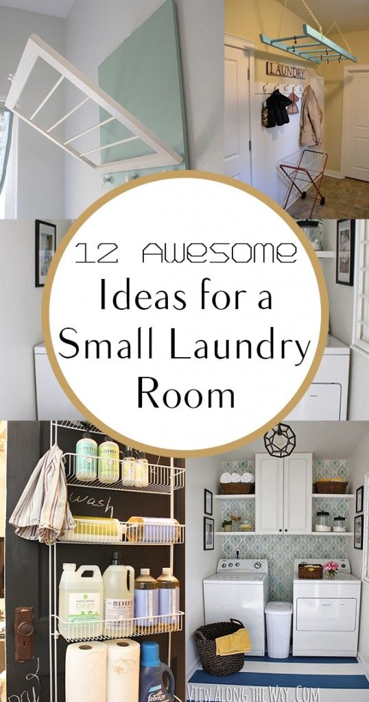 12 Awesome Ideas for a Small Laundry Room. organization, organizing hacks, stay organized, home, home decor, cleaning, cleaning tips, diy organization