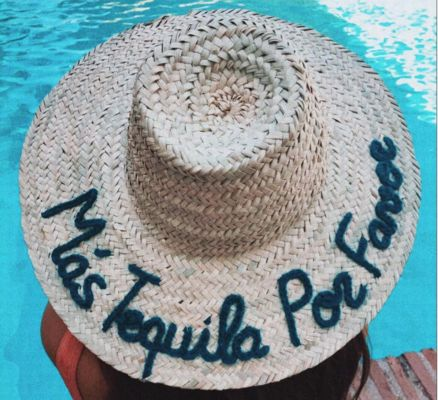 Personalised Straw Hats by BOMBOM.MOROCCO - Stay cool this summer with one of our ready to wear decorative hats available online on BOULESSE.COM