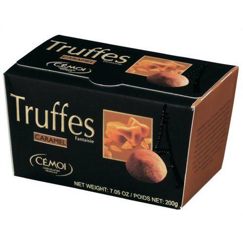 Cemoi Truffes Fantaisie - Fancy Chocolate Truffles CARAMEL TOFFEE - Ballotin Gift Box 7 oz. - http://bestchocolateshop.com/cemoi-truffes-fantaisie-fancy-chocolate-truffles-caramel-toffee-ballotin-gift-box-7-oz/