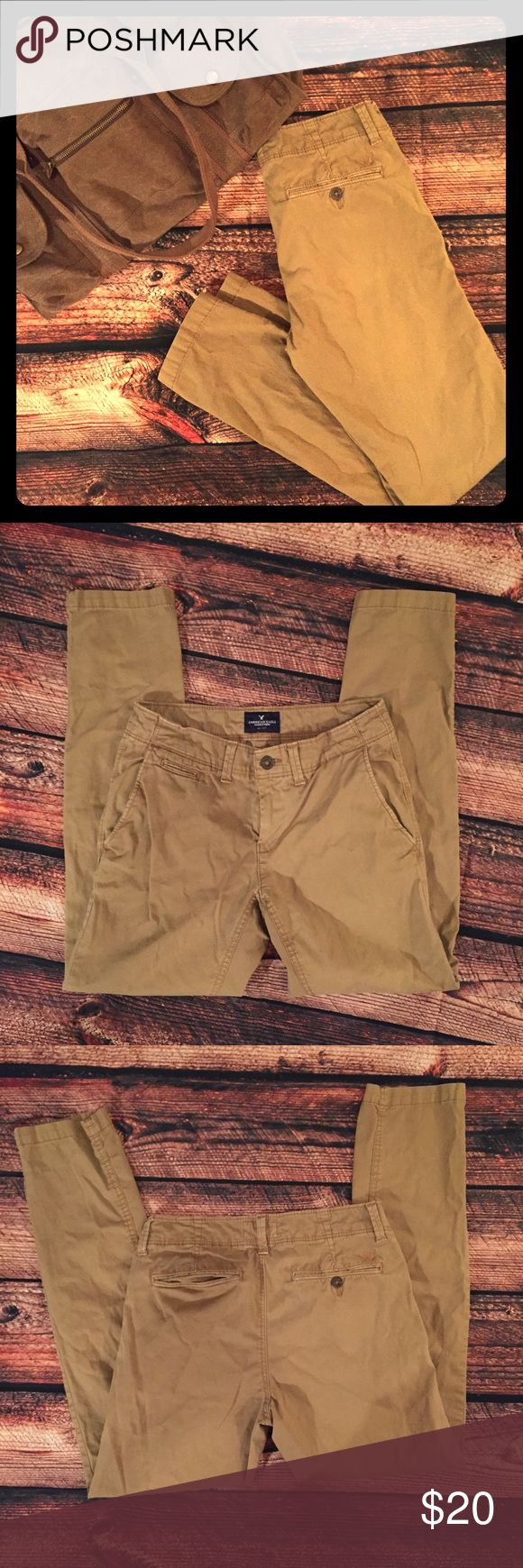 American Eagle Mens Khakis Skinny Dapper American Eagle Khakis! Awesome condition. 29/32. Skinny cut. •No returns, no trades •10% discount on 3+ items American Eagle Outfitters Pants Chinos & Khakis