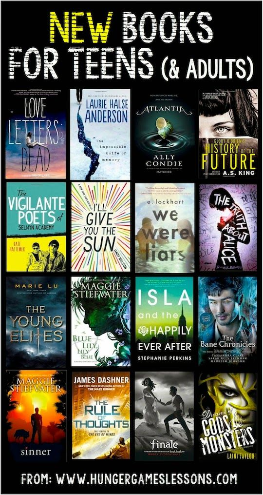 New Books for Teens (& Adults) - If you need help selecting a new book for a gift, click on the link for suggestions.