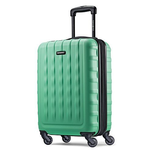Really any good carry-on   Samsonite Luggage, Ziplite 2.0 19.5-inch Hardside Expandable Spinner Carry-On Imagine the places you'll go when you are traveling in style! Beach vacation? Dreaming of heading to the mountains? We have you covered!
