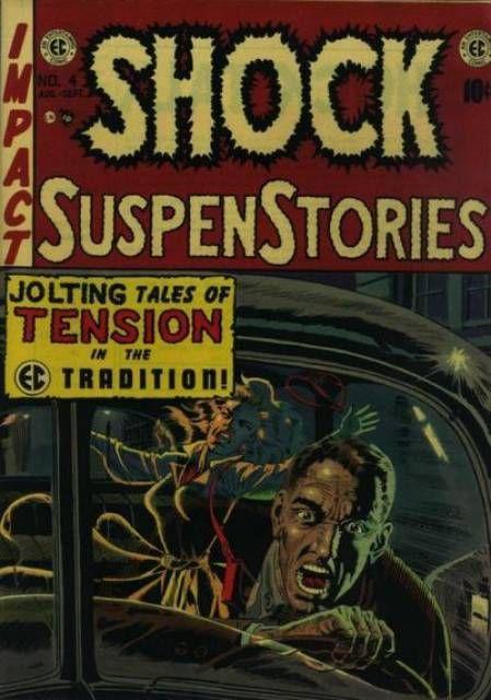 Shock Suspenstories #4- Mentioned in the text of Seduction Of The Innocent on pages 387 and 388