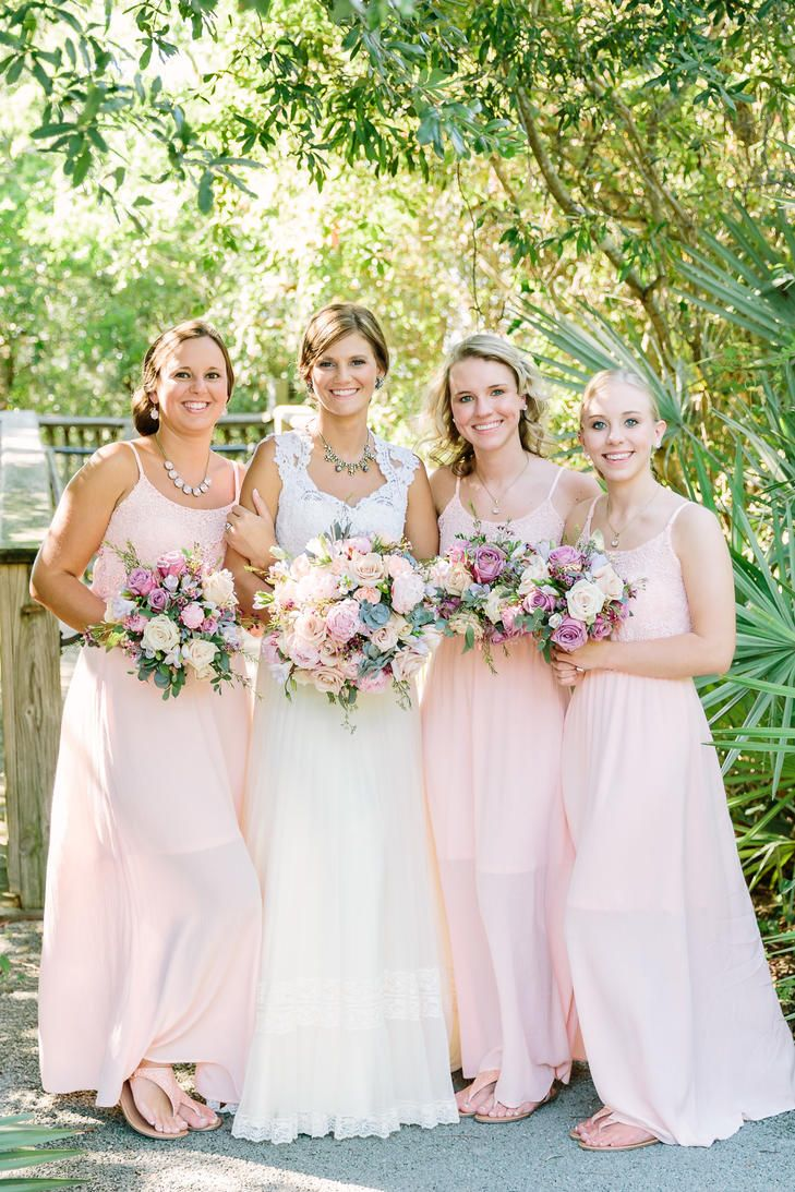 639 best bejewelled bridesmaids images on pinterest wedding soft peach bridesmaid dresses ombrellifo Image collections