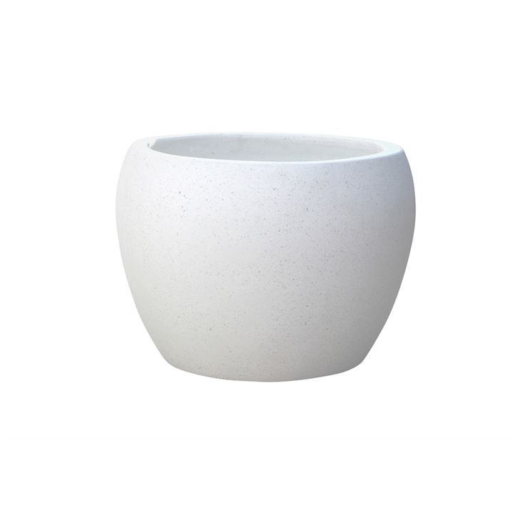 Northcote Pottery 42 x 38cm White Precinct Lite Terrazzo Moon Pot