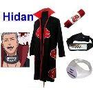 Naruto Itachi Hidan Cosplay Costume Set , Size S