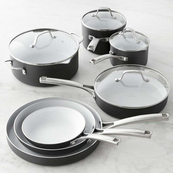 Calphalon Classic Ceramic Nonstick 11-Piece Cookware Set | Williams-Sonoma                                                                                                                                                                                 More