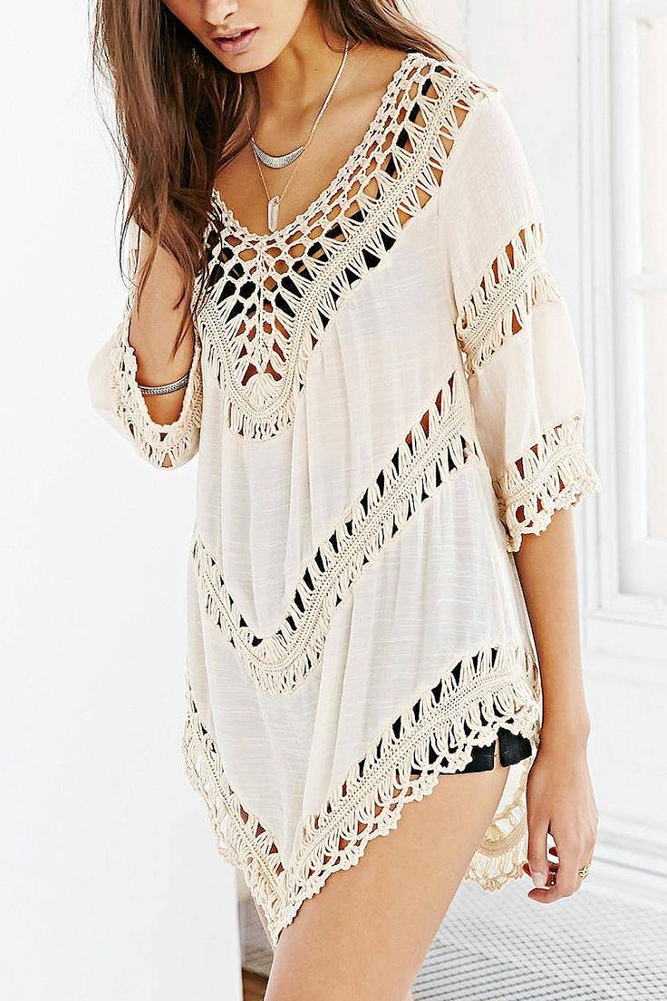 V-neck Crochet Top