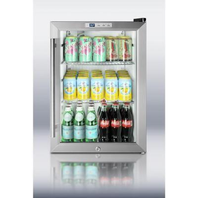 Glass Door Mini Refrigerator in Black