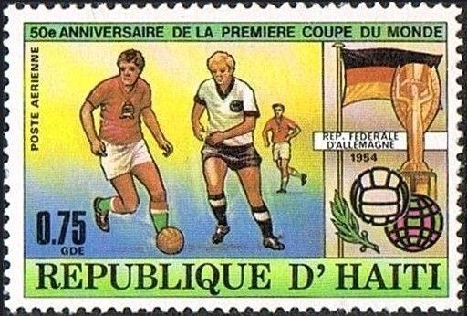Bélyeg: 1954 Switzerland - Champion Germany (Haiti Köztársaság) (50 years World Cup Soccer) Mi:HT 1378