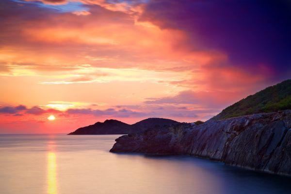 Puesta de sol en Ibiza. Fotografía: Joan Vendrell