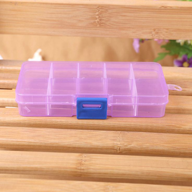 10 Grids Happy Gifts High Quality Adjustable Jewelry Beads Pills Nail Art Tips Storage Box Case