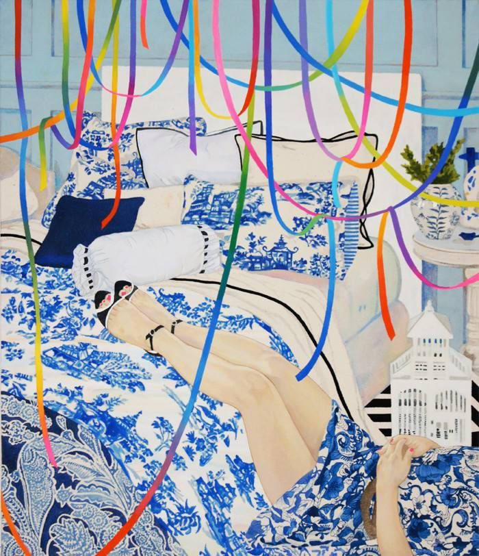 painting by Naomi Okubo: