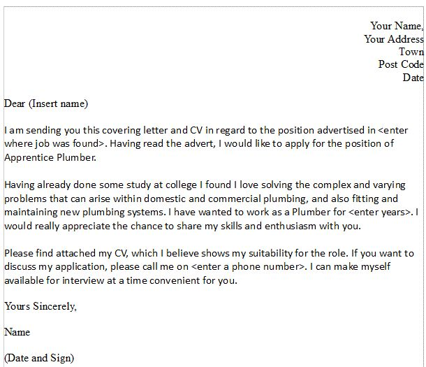 Sample Plumbing Cover Letter. Large Size Of Resumehow To Prepare