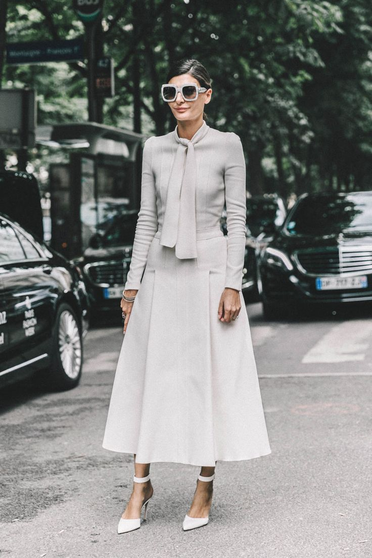 Giovanna Battaglia All White All Right Habitually Chic® » Paris Couture Street Style