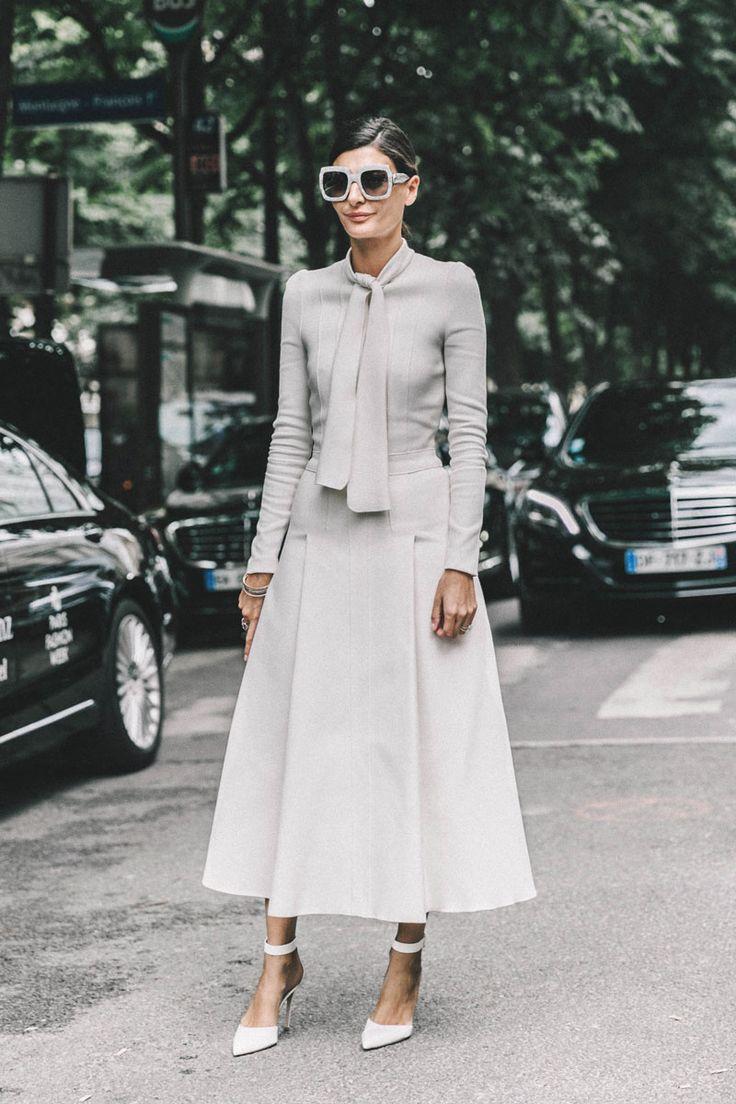 Giovanna Battaglia All White All Right Habitually Chic® » Paris Couture Street Style