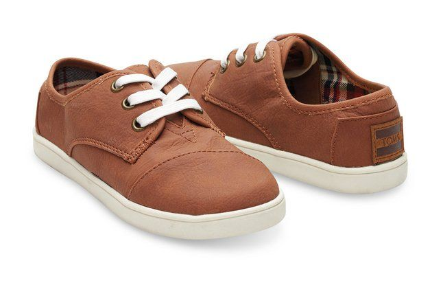 Pin for Later: The Back-to-School Pieces Your Kids Will Want in Their Closets This Year Toms Brown Leather Sneakers Brown Leather Youth Paseos ($46)