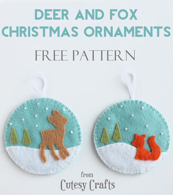 deer and fox ornaments.