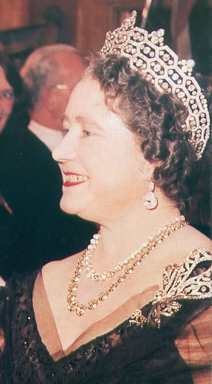 ilovethemonarchy:  Queen Elizabeth the Queen Mother in the Boucheron Tiara