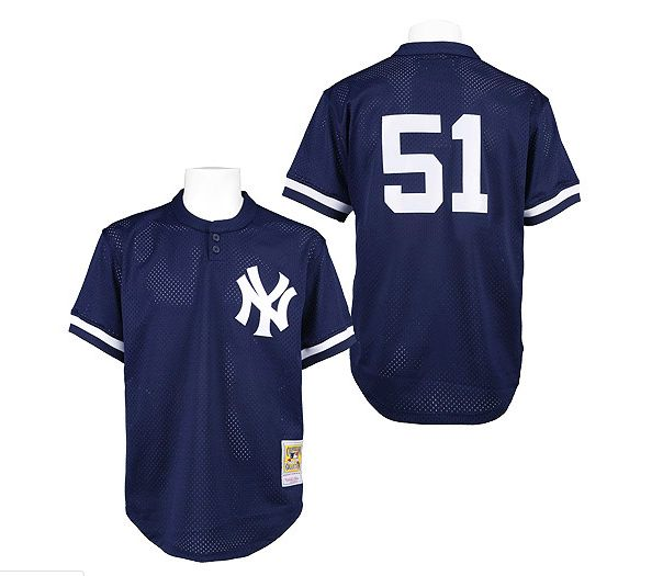 low priced 7ed7d 64acf Men's Mitchell and Ness 1995 New York Yankees #51 Bernie ...