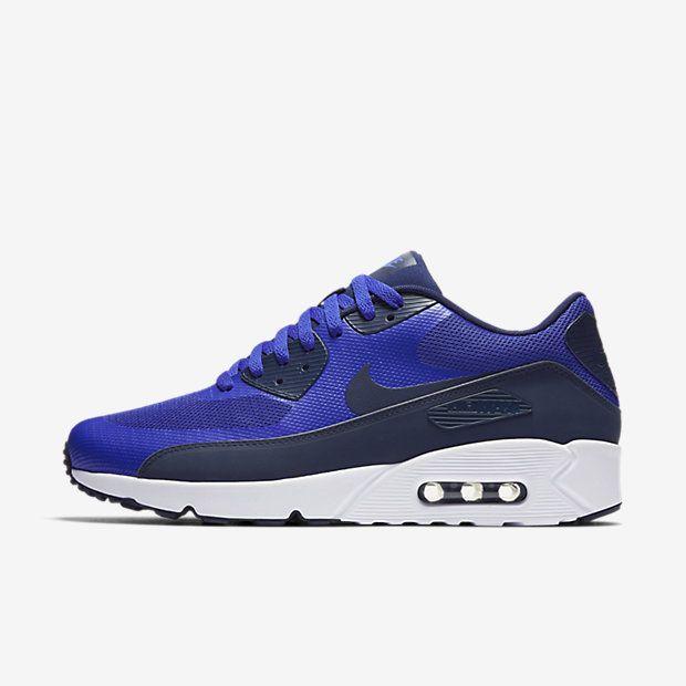 info for 6db94 67605 Chaussure Nike Air Max 90 Pas Cher Homme Ultra 2 0 Essential Bleu Souverain  Blanc Bleu
