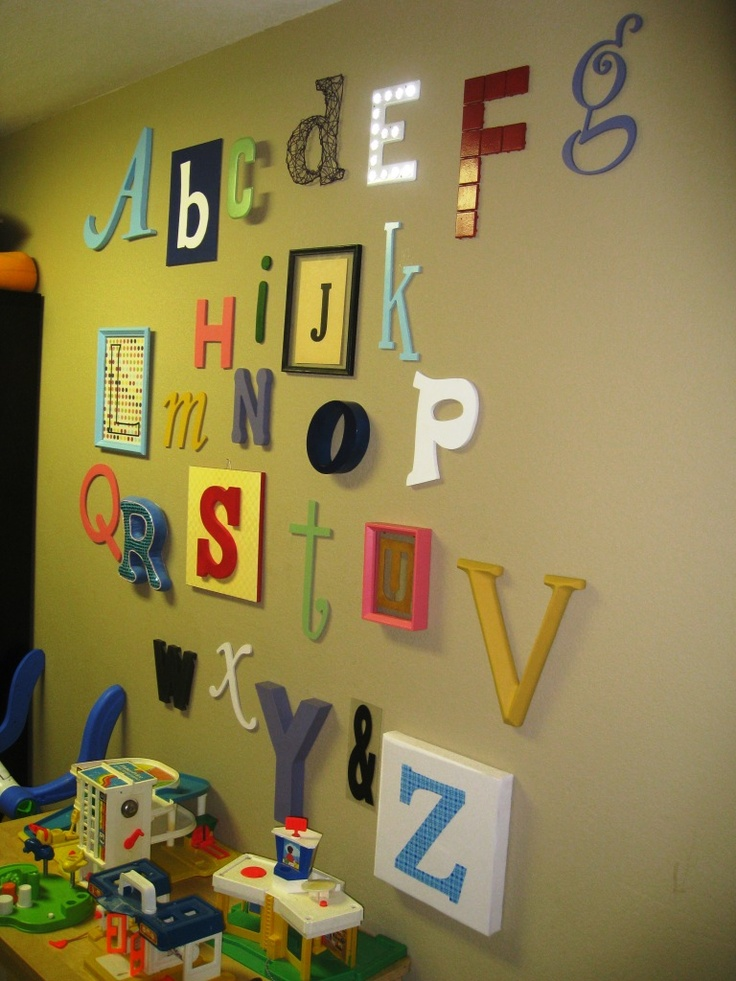 10 best images about alphabet wall on Pinterest | Alphabet ...