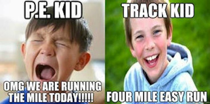 Oh and four miles is not track! Unless it's a recovery run for the distance runners. Get it right!!!!!!!!!!