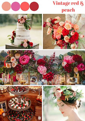 If you are Asian, but at the same time, you want to have the western style wedding, go for the Vintage red and Peach Wedding Theme