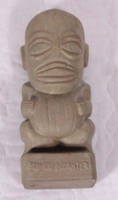 "Vtg Don Q Eldorado Rum Bottle Mai Kai Decanter 9"" Tiki Torn Tax Stamp No Cork"