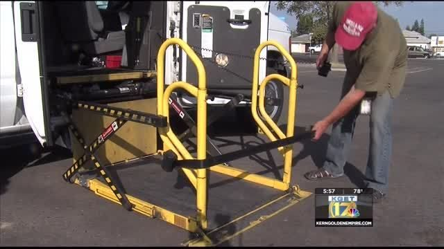 Locally owned company Blue Star Taxi has the only wheelchair accessible cab in Bakersfield.