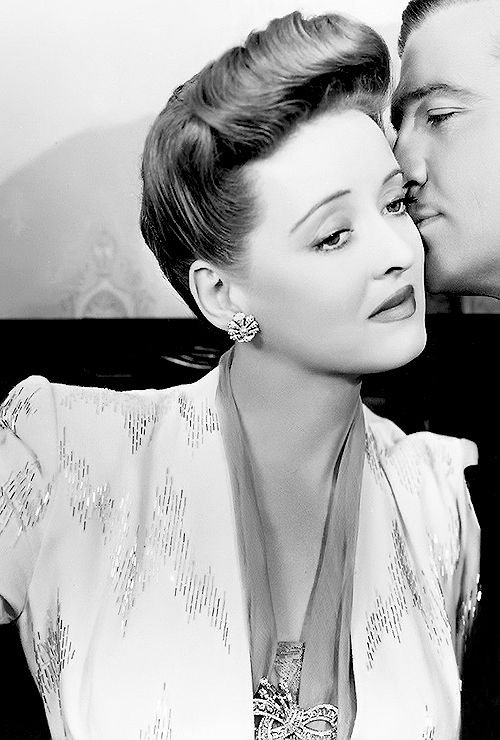 "Bette Davis in ""Now, Voyager"" 1942-Great romantic movie for all ugly girls who wish they could become beautiful and loved."