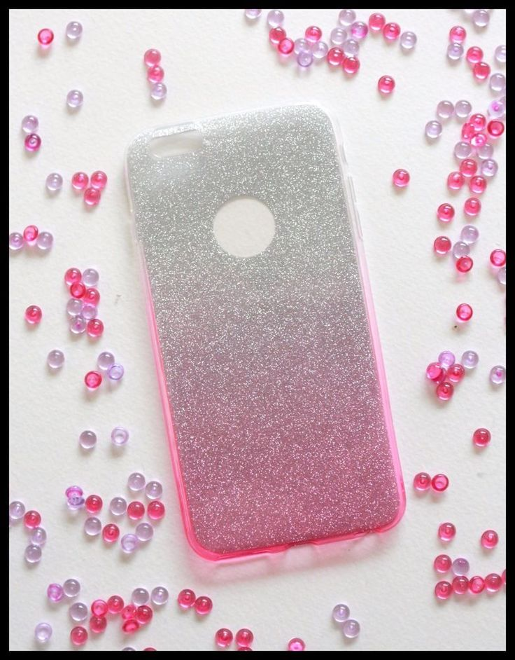 Coque Souple glitter rose iPhone 7 plus + telephone girly chic paillette