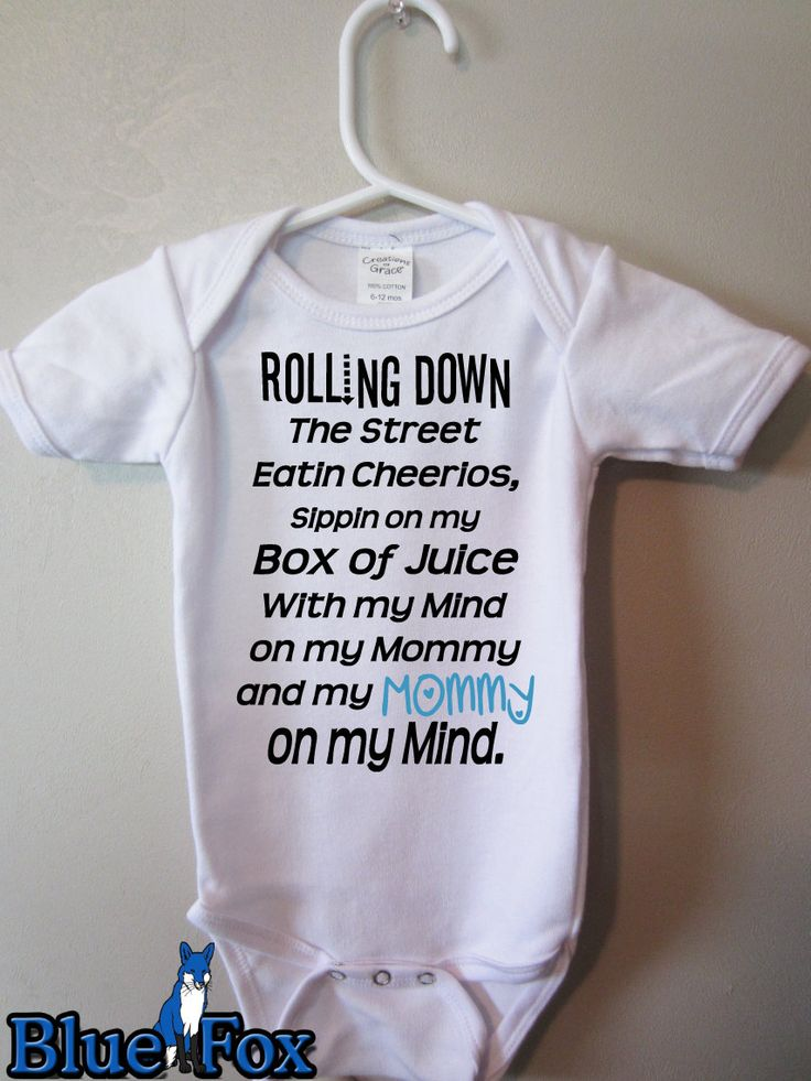 Mommy on My Mind Funny baby clothes Rolling down by BlueFoxApparel, $15.99