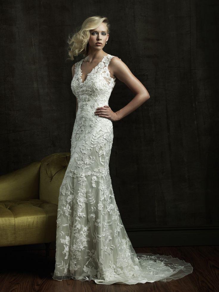 Allure Allure Allover Lace Gown