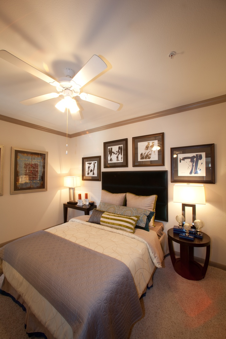 Apartment decoration ideas in Houston, TX. I like the picture placement.