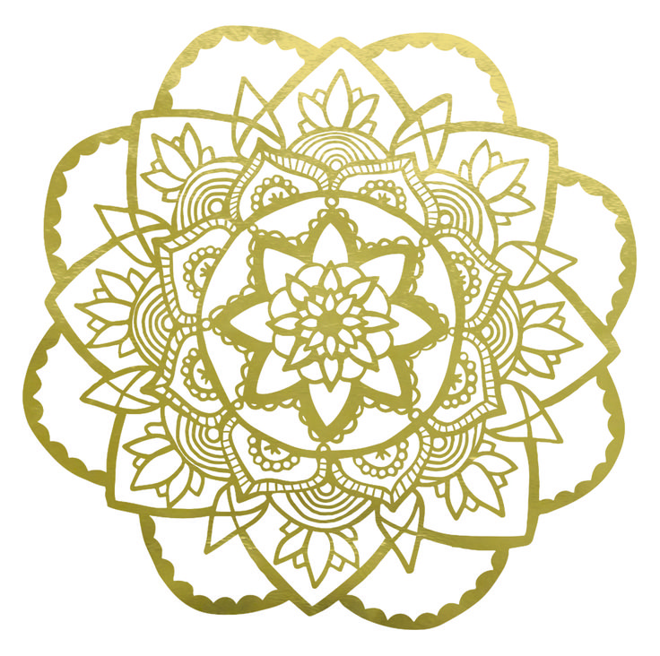 A beautiful rose Mandala wall sticker designed by Jen Smith from Mandala Meditation, available in a range of colours and finishes. A generous 55x55cm, this Mandala design is a beautiful way to add symbolism and art to the blank wall you've been meaning to fill. Whether it's the wall behind you when you're video calling with clients, the space above your bed or the room at your premises that needs lifting with something special. Vectorised digitally printed vinyl wall sticker from an…