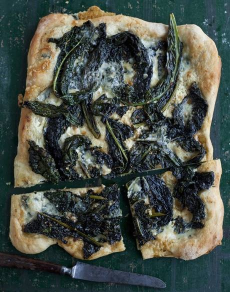 Pizza Bianca with cavolo nero and dolcelatte - Recipes - Food & Drink - The Independent